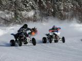 ATV ice racing